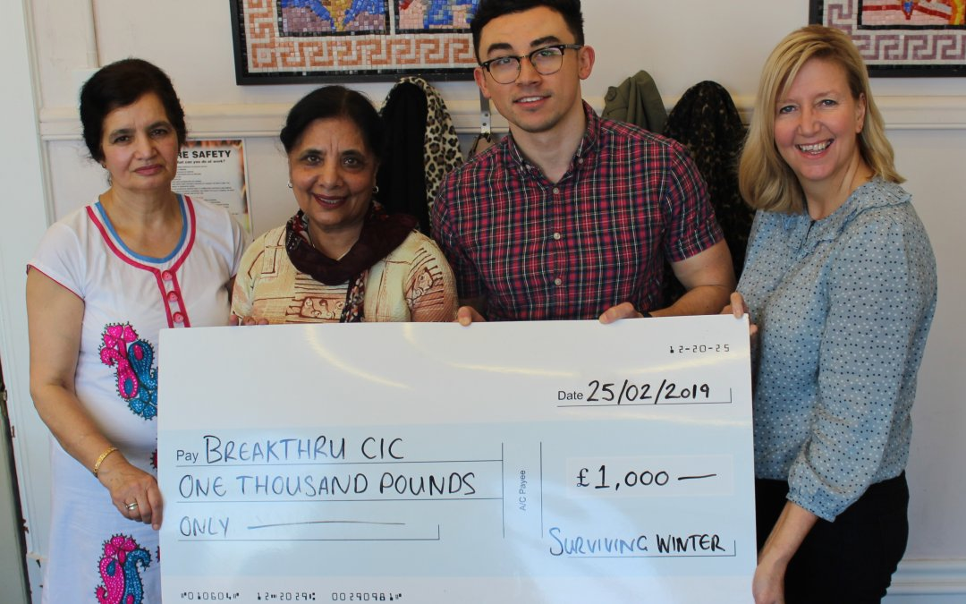 Grants made from Surviving Winter Fund.