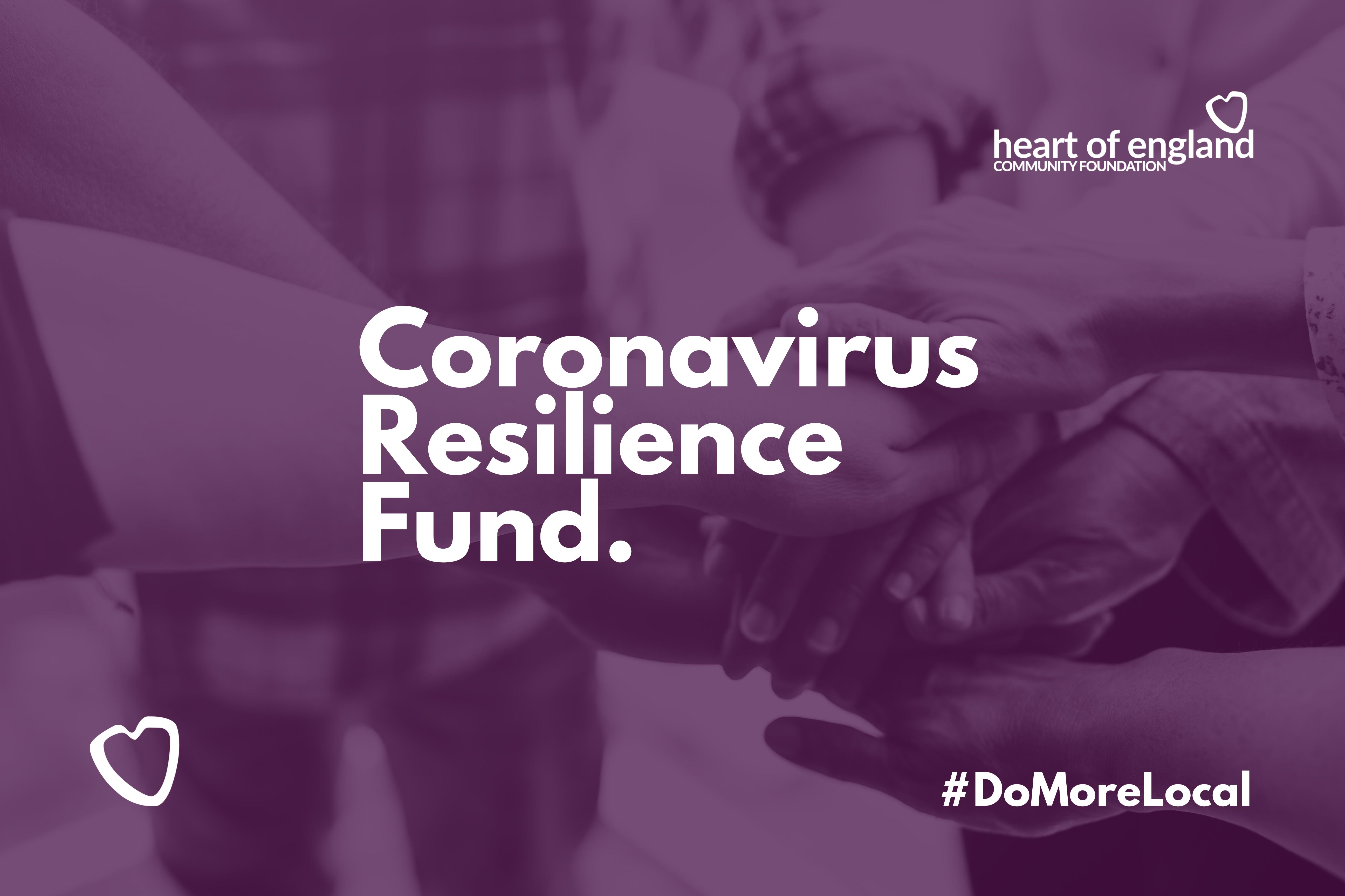 Coronavirus Resilience Fund Launches.