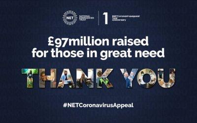 NET's Coronavirus Appeal raised almost £100million.