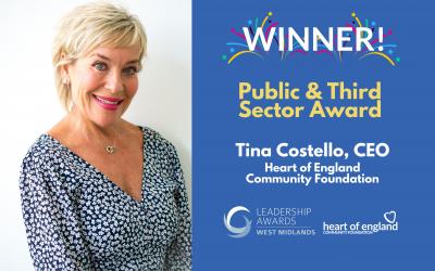 Foundation's CEO Tina Costello wins prestigious award.